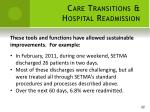 care transitions hospital readmission16