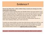 evidence f