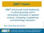 abet vision