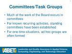 committees task groups