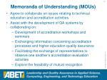 memoranda of understanding mous