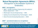 mutual recognition agreements mras recognition of accreditation systems graduates