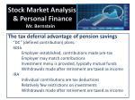 stock market analysis personal finance mr bernstein2