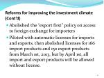 reforms for improving the investment climate cont d3