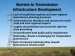 barriers to transmission infrastructure development