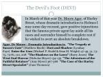 the devil s foot devi