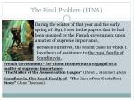 the final problem fina