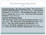 the five orange pips five1