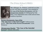 the priory school prio
