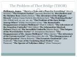 the problem of thor bridge thor1