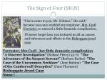 the sign of four sign