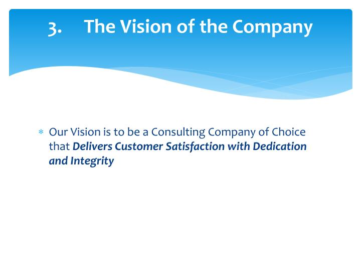 3.The Vision of the Company