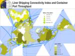 liner shipping connectivity index and container port throughput
