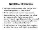 fiscal decentralization