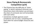 stove piping bureaucratic competition p14