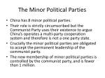 the minor political parties