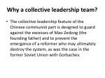 why a collective leadership team
