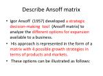 describe ansoff matrix