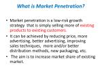 what is market penetration