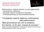 corporate governance business governance