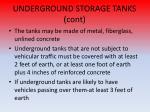 underground storage tanks cont