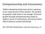 entrepreneurship and inclusiveness