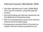 informal investors worldwide gem