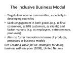 the inclusive business model