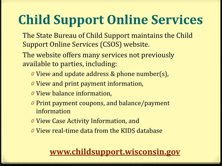 Child Support Online Services