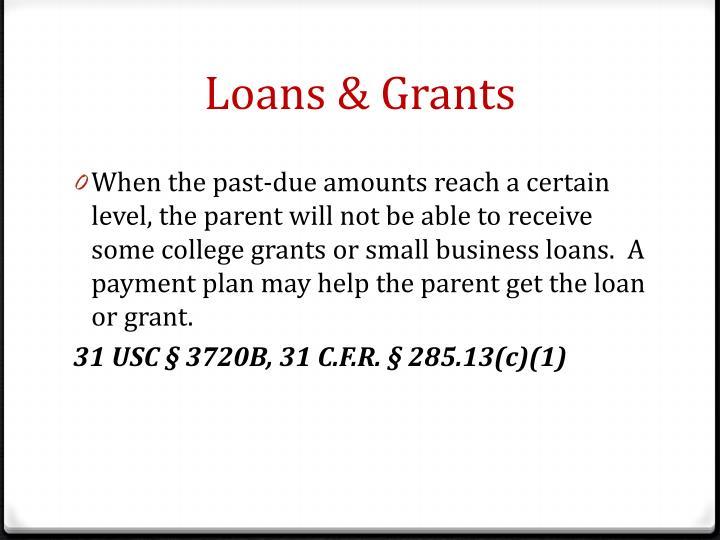 Loans & Grants