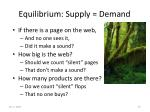 equilibrium supply demand