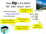 how big is the web 5b 20b more less1