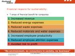 financial reasons for sustainability