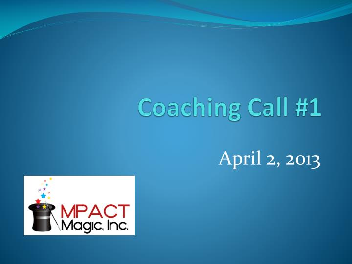 coaching call 1 n.