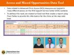 access and missed opportunities data tool