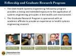 fellowship and graduate research program