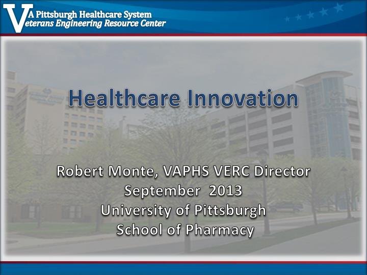 healthcare innovation n.