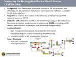 improving the investigation review board process vaphs pilot