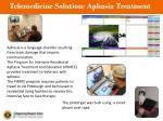 telemedicine solution aphasia treatment