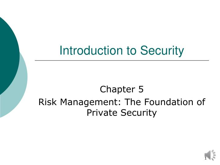 introduction to security n.