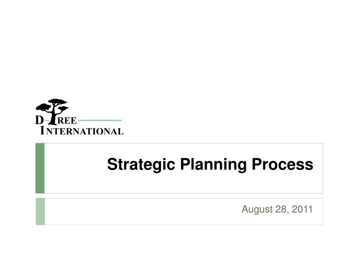 strategic planning process n.