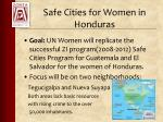 safe cities for women in honduras