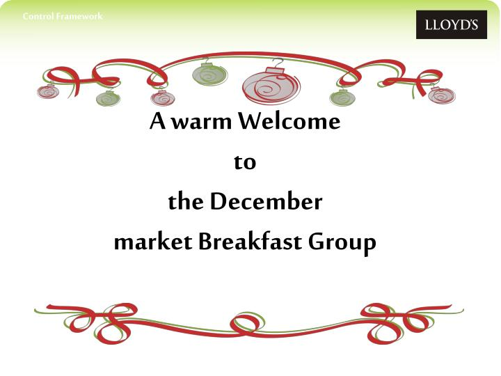 a warm welcome to the december market breakfast group n.