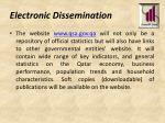 electronic dissemination
