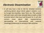 electronic dissemination1