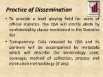 practice of dissemination