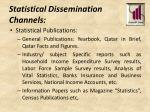 statistical dissemination channels