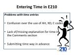 entering time in e2102