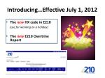 introducing effective july 1 2012