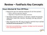 review fastfacts key concepts